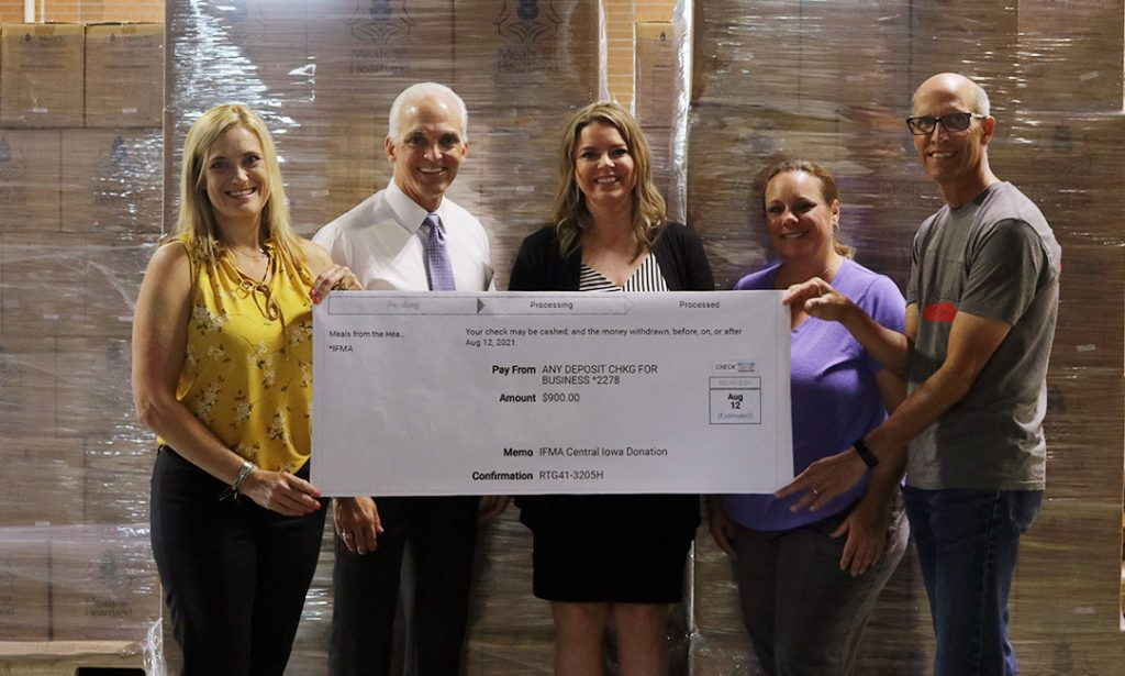 IFMA Central Iowa Chapter's Donation Presentation to Meals for the Heartland